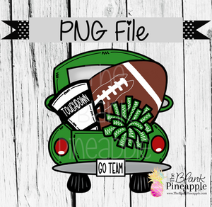 PNG - Football Vintage Truck Green