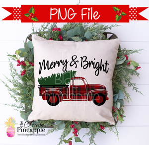 Christmas Vintage Truck Sublimation