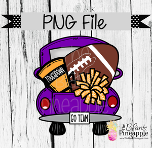 PNG - Football Vintage Truck Purple/Gold