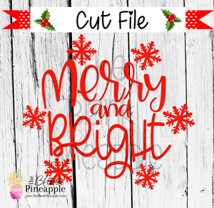 CUT FILE - Christmas Merry and Bright Snowflakes