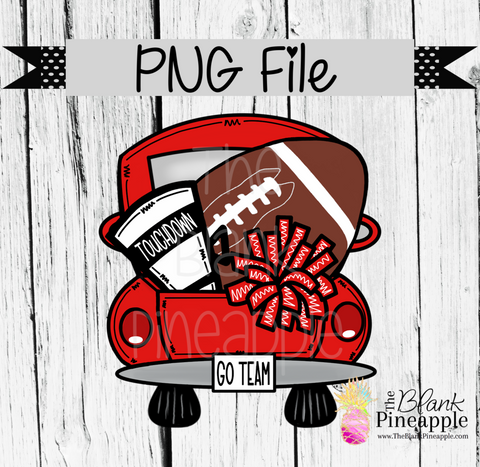 PNG - Football Vintage Truck Red
