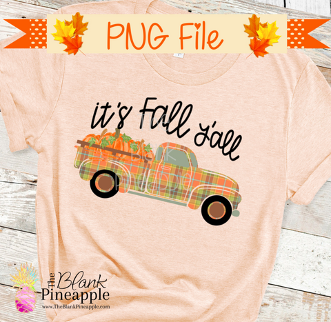 Vintage Pumpkin Truck Sublimation