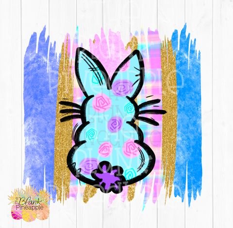 PNG - Paint Swatch Flower Easter Bunny