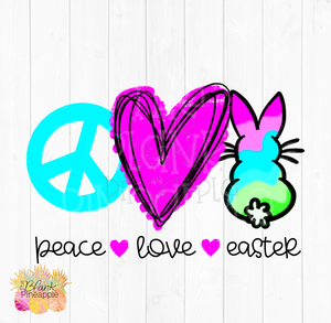 PNG - Peace Love Easter Sublimation design