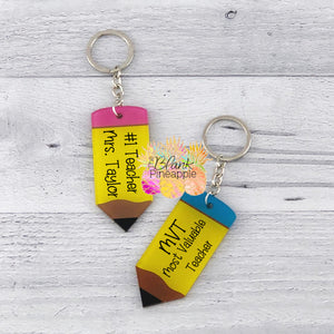 Acrylic Pencil Key Ring