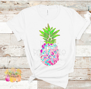 PNG - Pink Tie Dye and Glitter Pineapple