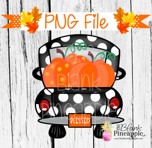PNG - Pumpkin Truck Black Polka Dot