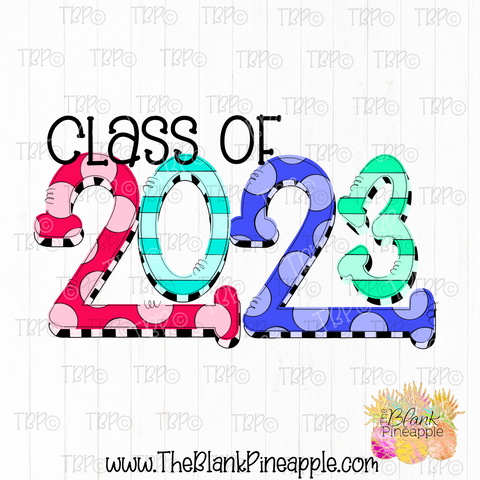 Graduation Class of 2023 Sublimation Design PNG
