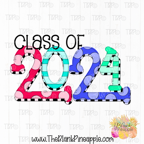 Graduation Senior Class of 2024 Sublimation Design PNG