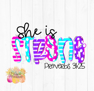 PNG - She Is Strong Proverbs 31:25 Mother's Day