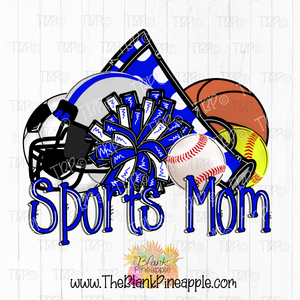 Sports Mom Sublimation Design PNG