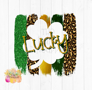PNG - St Patrick Lucky Leopard Sublimation design