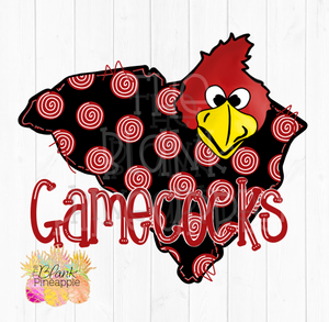 South Carolina State with Gamecocks Cocky clipart