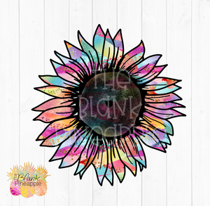 PNG - Gold Rainbow Sunflower