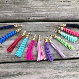 Suede Tassel w/ Gold Lobster Claw 3""