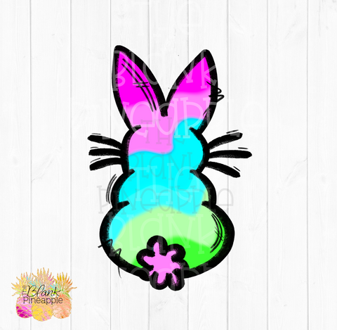 PNG - Tie Dye Easter Bunny