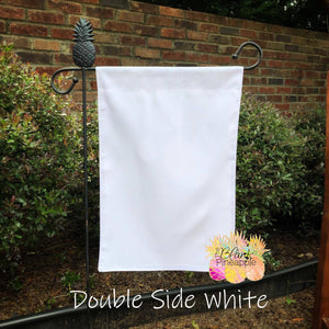 Blank White Polyester Garden Flag - Double Sided