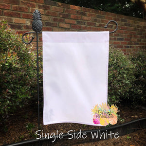 Blank White Polyester Garden Flag - Single Sided