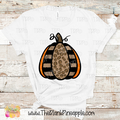 Leopard Pumpkin Sublimation Design PNG
