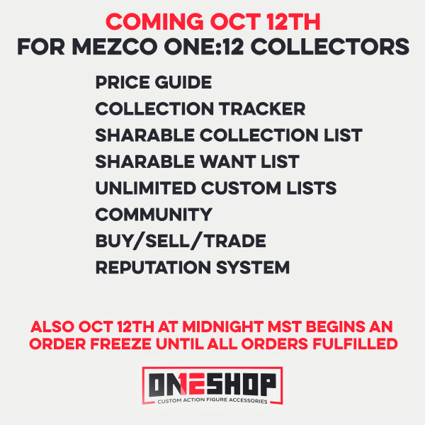 Mezco ONE:12 Collection Tracker and Marketplace Coming Soon!