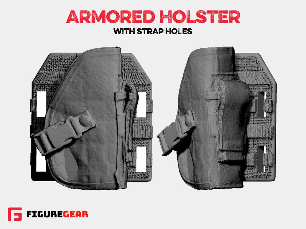 Armored Holster with Strap Holes