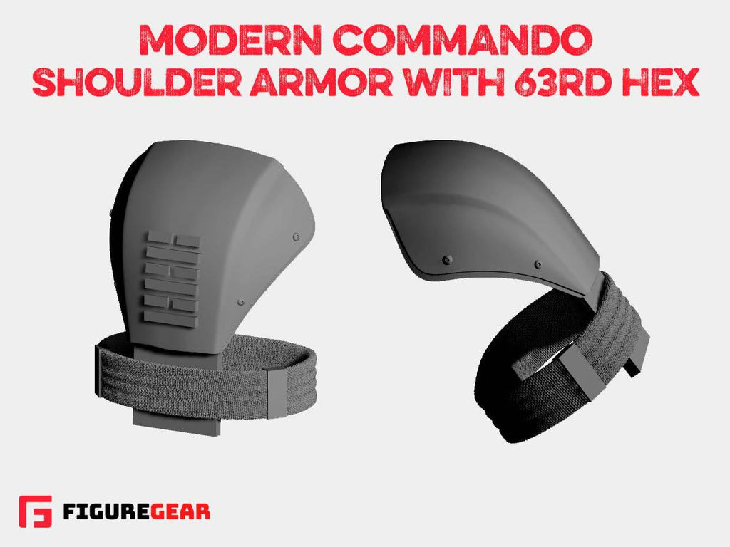 Modern Commando Shoulder Armor w/ 63rd Hex
