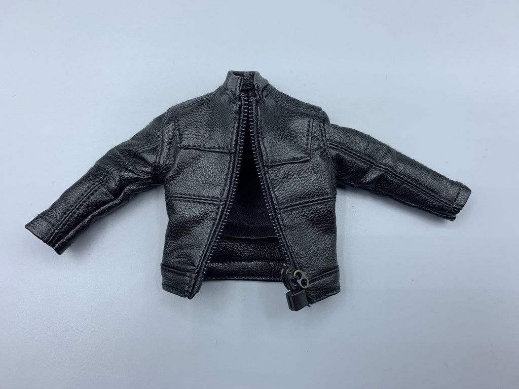Black Leather Jacket for Mezco ONE:12