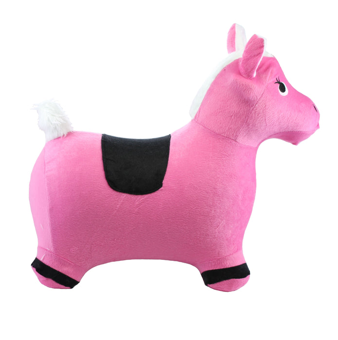 Inflatable Ride-On Toy - Horse Pink