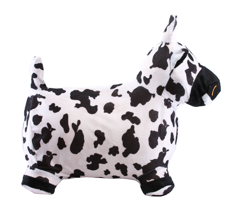 Chromo Bouncy Hopping Toy, Cute Cow Inflatable Jumper w/ Washable Plush Cover