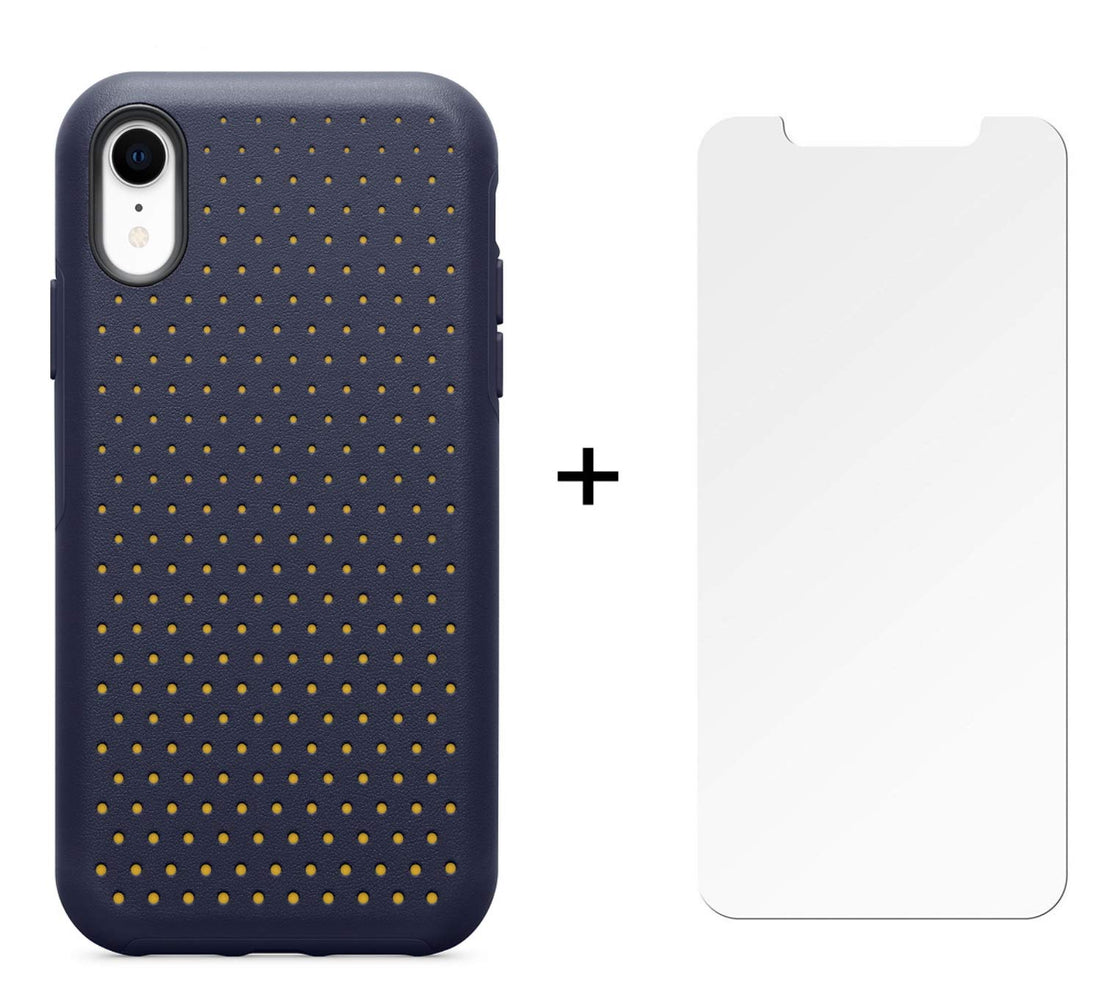 OtterBox Ultra Slim Case for iPhone XR w/ Glass Screen Protector- Midnight Polka