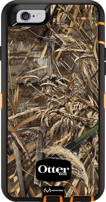 OtterBox DEFENDER SERIES Case & Holster for iPhone 6 / 6S - Realtree Max 5 Blaze (Certified Refurbished)