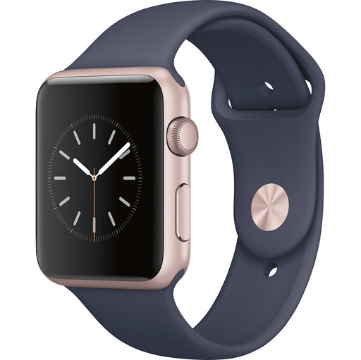 Apple Watch Series 1 w/ 42MM Rose Gold Aluminum Case & Midnight Blue Sport Band (Certified Refurbished)