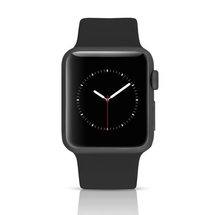 Apple Watch Series 3 (GPS+LTE) w/ 38MM Space Gray Aluminum Case & Black Band (Certified Refurbished)