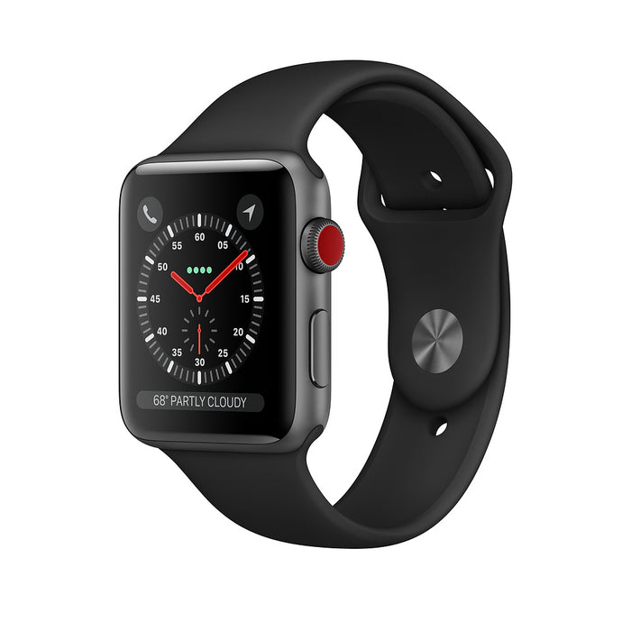 Apple Watch Series 3 GPS+LTE w/ 42MM Space Gray Case & Dark Gray Sport Band (Certified Refurbished)