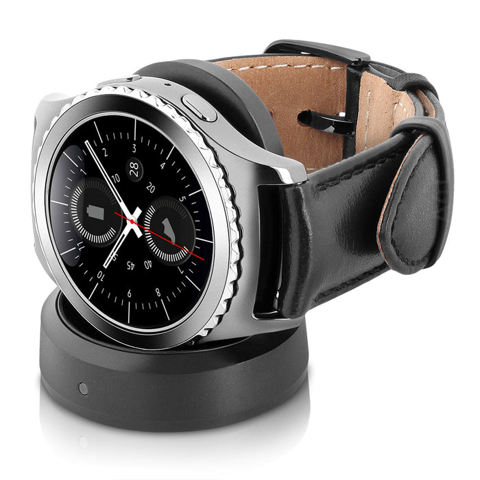 Samsung Gear S2 Classic, T-Mobile Cellular w/ Black Case & Black Leather Band (Certified Refurbished)