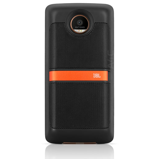 JBL - SoundBoost Moto Mod Portable Stereo Speaker - Black (Certified Refurbished)