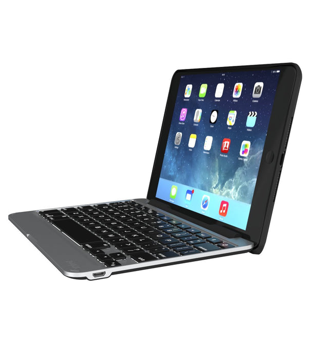 Zagg Folio Tablet Bluetooth Ultra-Slim Keyboard & Case For iPad Mini 4  - Black (Certified Refurbished)