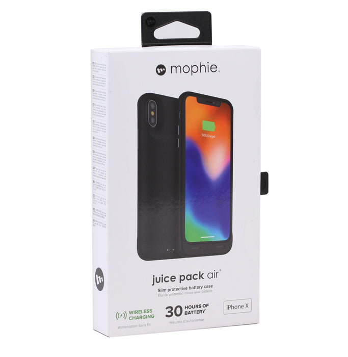 Mophie Juice Pack Air Slim Protective Battery Case For iPhone X - Black  (Certified Refurbished)