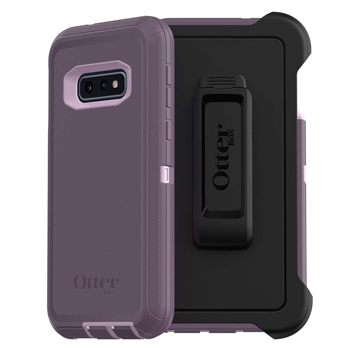 OtterBox DEFENDER SERIES Case & Holster for Galaxy S10E (ONLY) - Purple Nebula (Certified Refurbished)