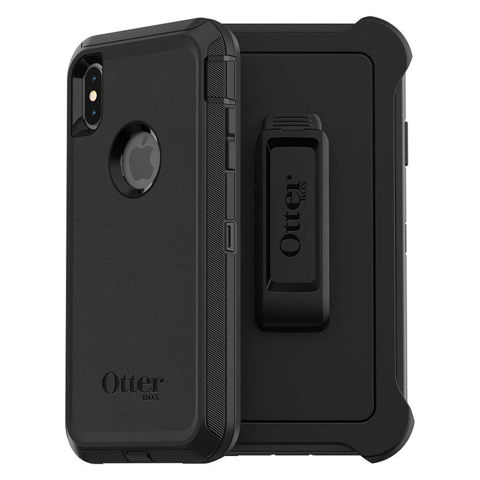 OtterBox DEFENDER SERIES Case & Holster for iPhone Xs Max (ONLY) - Black (Certified Refurbished)