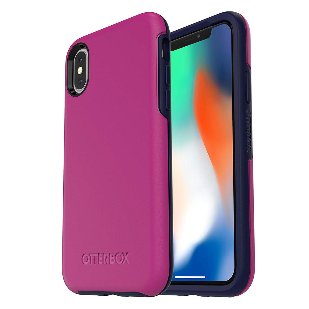 OtterBox iPhone X SYMMETRY SERIES Case - Mix Berry Jam (Certified Refurbished)