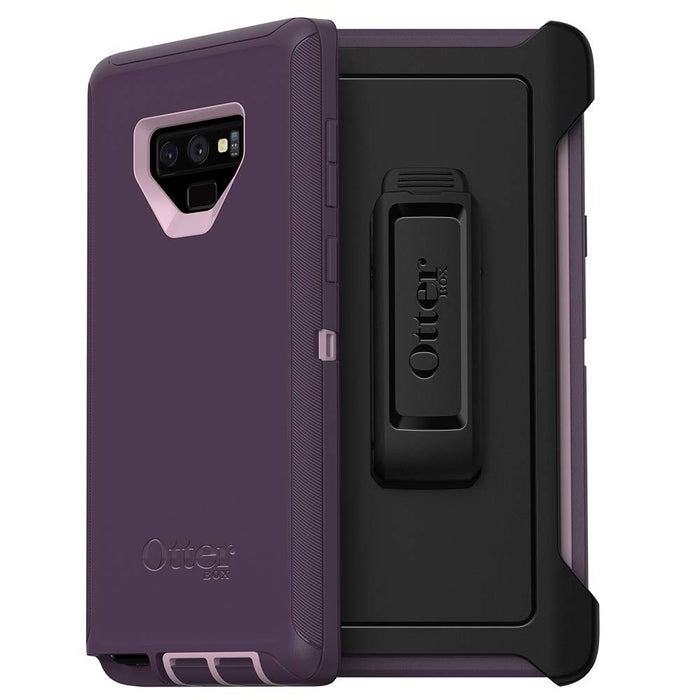 OtterBox DEFENDER SERIES Case & Holster for Galaxy Note9 (ONLY) - Purple Nebula (Certified Refrubished)