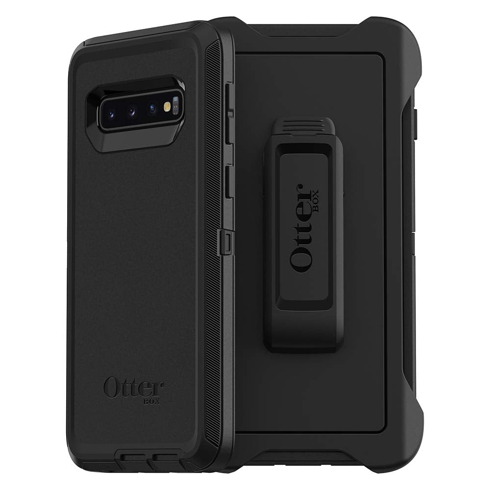 OtterBox DEFENDER SERIES Case & Holster for Galaxy S10 (ONLY) - Black (Certified Refurbished)