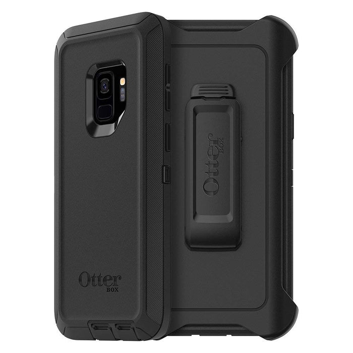OtterBox DEFENDER SERIES Case & Holster for Galaxy S9 (ONLY) - Black (Certified Refurbished)