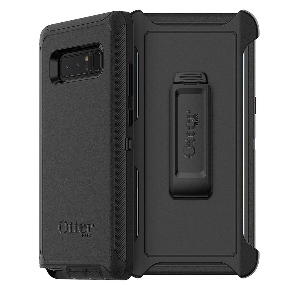 OtterBox DEFENDER SERIES Case & Holster for Galaxy Note 8 - Black (Certified Refurbished)