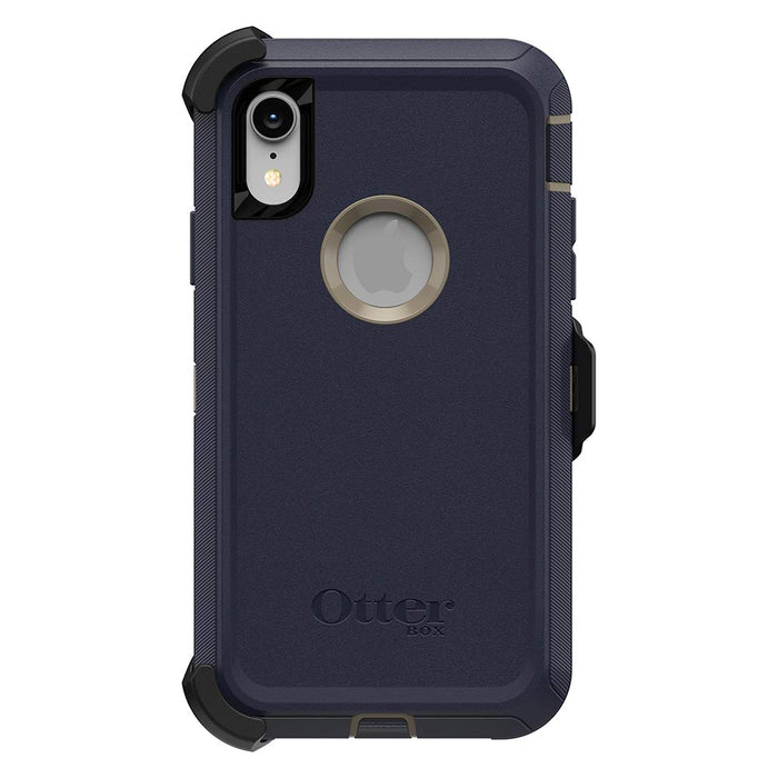 OtterBox DEFENDER SERIES Case & Holster iPhone XR (ONLY) - Dark Lake Blue (Certified Refurbished)