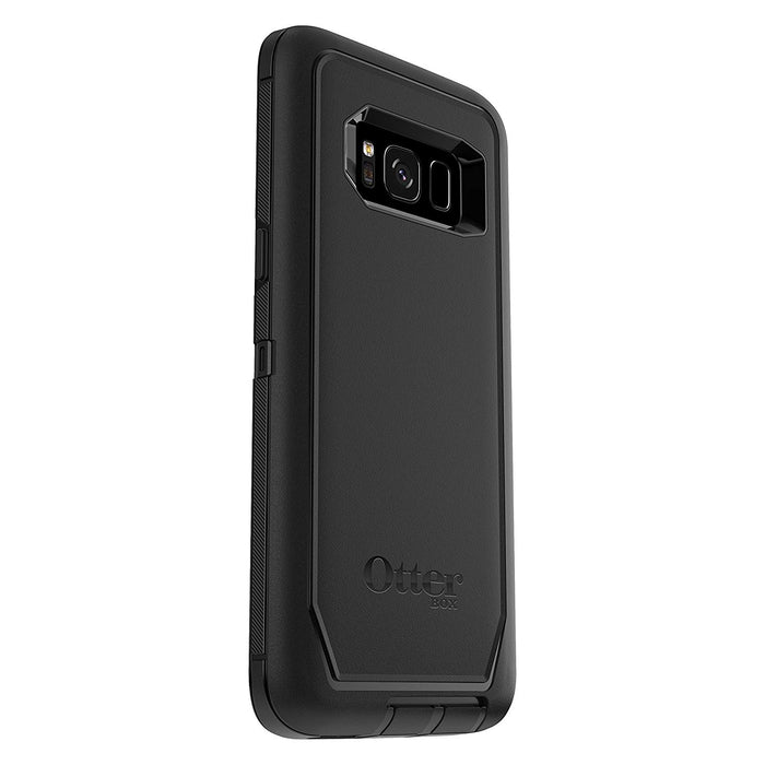 OtterBox DEFENDER SERIES Case & Holster for Galaxy S8 (ONLY) - Black (Certified Refurbished)