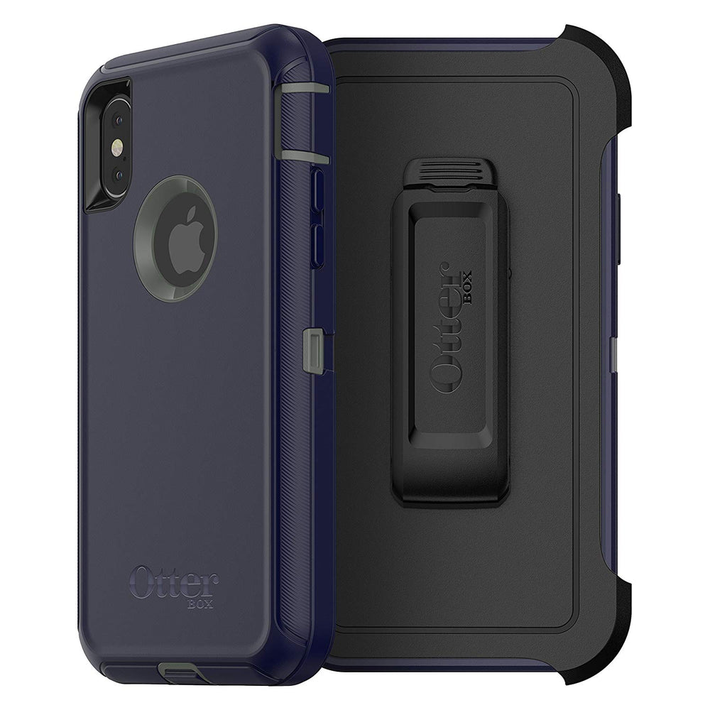 OtterBox DEFENDER SERIES Case & Holster for iPhone X/XS (ONLY) - Stormy Peaks (Certified Refurbished)