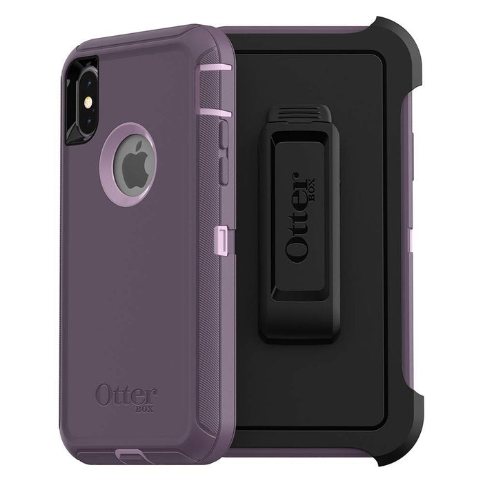 OtterBox DEFENDER SERIES Case & Holster for iPhone X / XS (ONLY) - Purple Nebula (Certified Refurbished)