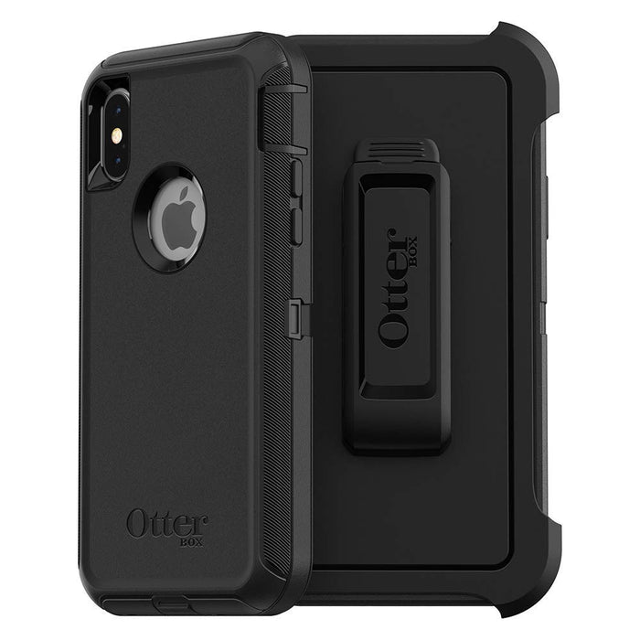 OtterBox DEFENDER SERIES Case & Holster for iPhone X / iPhone XS - Black (Certified Refurbished)